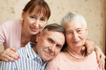 caregiving for elderly parents-caring for older relatives-aging aging in place-primary and secondary caregivers